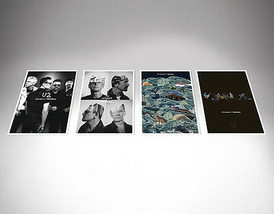 U2ie Tour - 5 Silkscreen LITHOGRAPH Prints From U2.com (Innocence + Experience)  • 87£