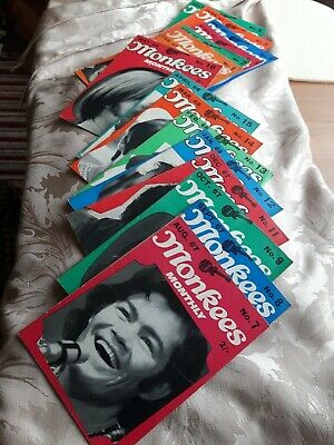 MONKEES MONTHLY ORIGINAL MAGAZINES. No 1 - 16 (no 10 Missing) • 34.99£