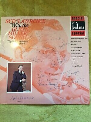 MULTIPLY SIGNED Syd Lawrence And The Glenn Miller Sound LP. RARE • 25£