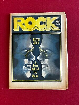 1972, Elton John,  ROCK  Newspaper (No Label) Scarce / Vintage • 49.35£