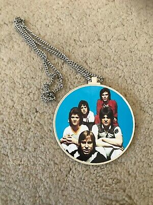 Vintage Bay City Rollers Necklace Pendant True Vintage 1970s • 10£