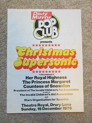 Gary Glitter Band / Marc Bolan Christmas Supersonic Programme 1976 Superb • 19.95£