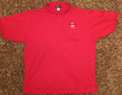 Official Hard Rock Cafe Orlando Red Polo Shirt XL Bought 1994 Used VG Condition • 5£