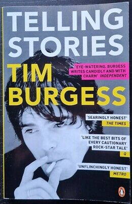 Tim Burgess Signed 'Telling Stories' Paperback Book - The Charlatans  • 25£