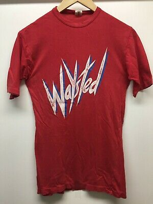 Vintage Waysted Official 1984 Tour T Shirt – Rare Red • 9£