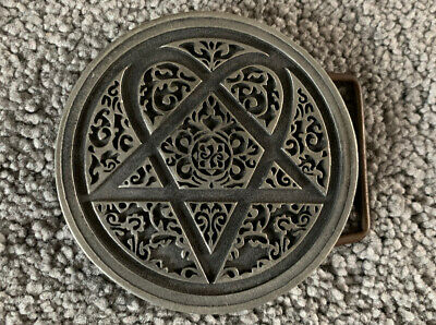 HIM His Infernal Majesty Band Heartagram Metal Belt Buckle 2004 • 40£