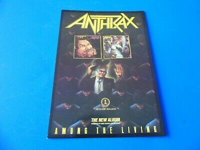 Anthrax Postcard Promoting Their Album - Among The Living (Style One) • 1.85£