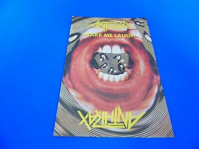 Anthrax Postcard Promoting Their Single - Make Me Laugh • 1.85£
