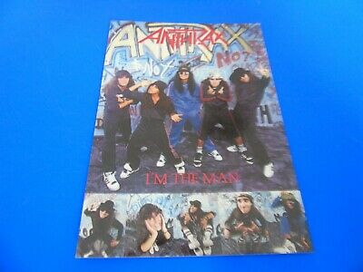 Anthrax Postcard Promoting Their Single - I'm The Man • 1.85£