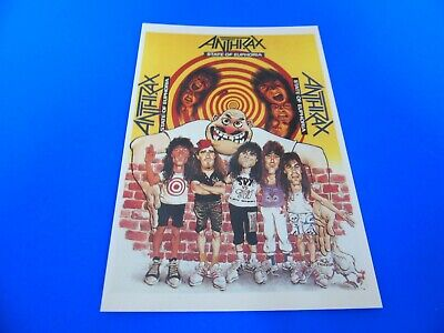 Anthrax Postcard Promoting Their Album - State Of Euphoria  • 1.85£