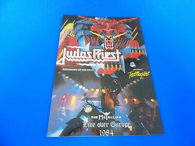 Judas Priest Postcard Promoting Their Album - Defenders Of The Faith • 1.85£