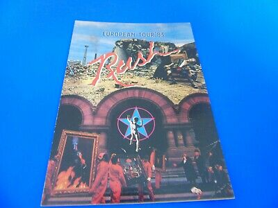 Rush Postcard Promoting Their 1983 European Tour • 1.85£