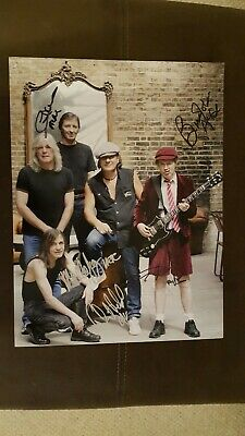 AC/DC Signed By ALL 5 Band Members On Black Ice Tour. 16 X 12 Photo. AFTAL.  • 899£