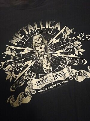 Metallica Tour Magnetic Org T-shirt, L • 12£