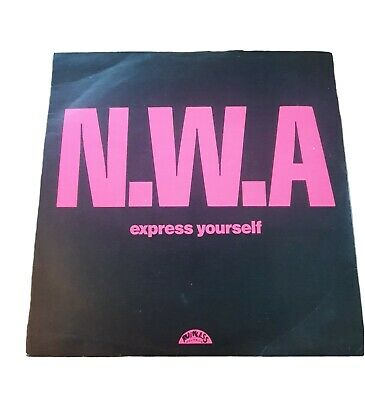 NWA Express Yourself 1989 & Straight Outta Compton 7 Inch Single (Dr Dre Eazy-e) • 29.99£