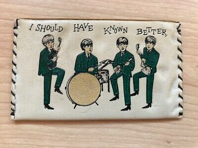 BEATLES ORIGINAL & VINTAGE COIN PURSE FROM HOLLAND C1964 • 20£
