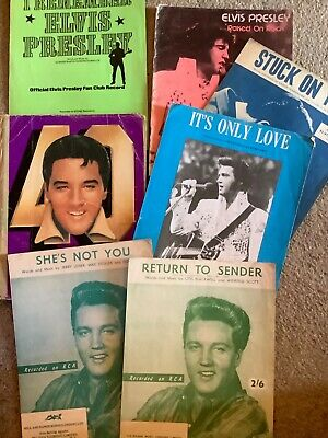 Job Lot Vintage Elvis Presley Sheet Music Collection Collectable • 15£