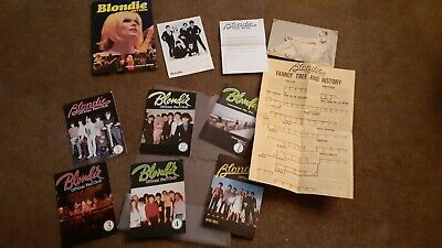 Blondie Collection Official Fan Club Items Magazines (6) Gift Book Photo Etc • 45£