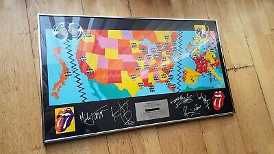 Rolling Stones Framed Signed Poster - Crew Urban Jungle/ Steel Wheels Tour 1990 • 1,999£