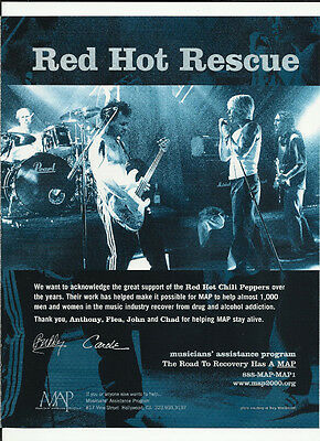 RED HOT CHILI PEPPERS Ultra RARE Trade AD POSTER For 2001 MINT CONDITION • 19.53£