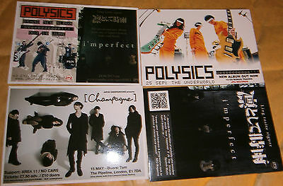 2 X Music Postcards - Polysics - Gig Date And Album Release • 1.50£