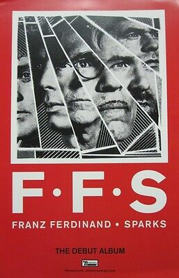 FRANZ FERDINAND SPARKS 2015 2 SIDED Promotional Poster Flawless New Old Stock • 5.84£