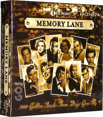 Memory Lane 1950s Songs K-Tel 10 CD 200 Classic Fifties Music Tracks New Sealed • 23.95£