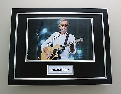 Mike Rutherford Signed Photo Framed 16x12 Genesis Autograph Memorabilia Display • 149.99£