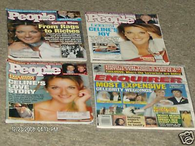 4 Pc. Celine Dion Magazine People Enquirer Weddings  • 35.09£