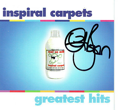Inspiral Carpets Hand Signed Autographed Greatest Hits CD Album Booklet - Clint • 27£