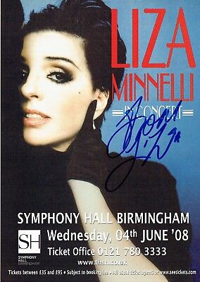 Liza Minnelli Hand Signed Autographed Original 2008 Concert Flyer  • 45£