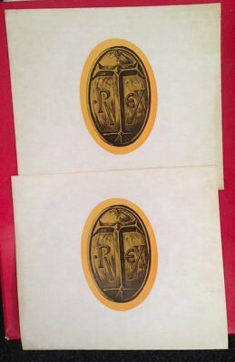 Marc Bolan & T.Rex Futuristic Dragon ~ X2 ORIGINAL 1976 Stickers Excellent • 7.99£