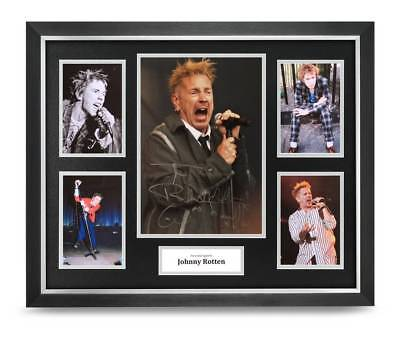 Johnny Rotten Signed Photo Large Framed Sex Pistols Display Autograph + COA • 149.99£