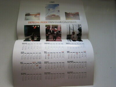 DEPECHE MODE Fan Club Calendar 1989 • 8.29£