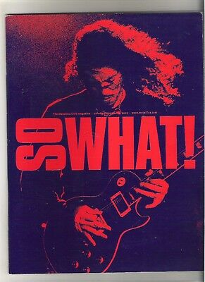 So What! Metallica Fanclub Magazine Vol 10 Number 3 2003 • 9.99£