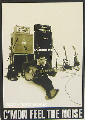 OASIS POSTCARD C'Mon Feel The Noise OFFICIAL Vintage Orginal 1990s Pyramid PC301 • 6.95£