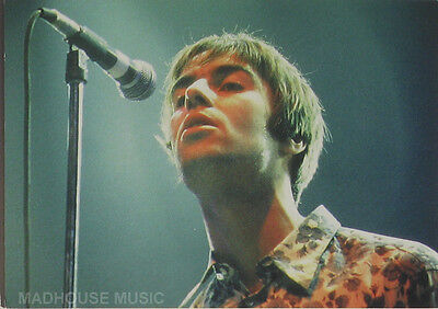 OASIS POSTCARD Liam Gallagher Mic. OFFICIAL Vintage Orginal 1990s Pyramid PC8026 • 3.95£