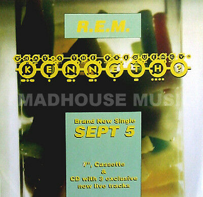 R.E.M. What's KENNETH Rare UK PROMO ONLY Poster DISPLAY CARD In-House POST FREE* • 2.99£