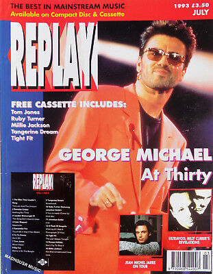 GEORGE MICHAEL Magazine REPLAY July 1993 COVER + Article 'George At 30' UK Rare • 9.95£