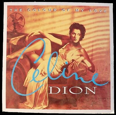 CELINE DION Display The Colour Of My Love 93 UK PROMO ONLY 46 X 46 Cm XL Standee • 85£