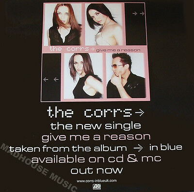 CORRS POSTER Give Me A Reason Rare UK PROMO POSTER 28  X 18  MINT • 5.95£