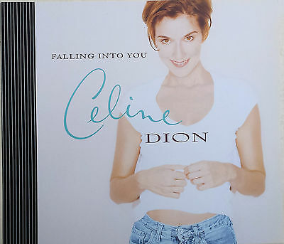 CELINE DION Display Card Falling Into You UK PROMO ONLY Rare 11  X 13  Poster • 8.95£