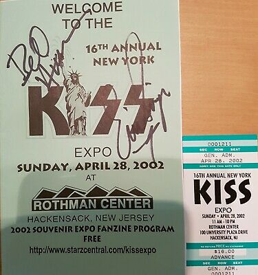 KISS Ace Frehley Event Signed By Bill Aucoin And Eric Singer! . Very, Very Rare  • 40£