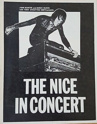 The Nice Very Rare Tour Programme 1970. Ex Condition! Keith Emerson/ELP • 18£