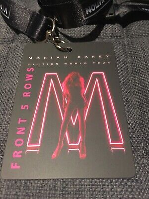 Mariah Carey Caution Tour VIP Lanyard And Front 5 Rows Souvenir Pass • 28.50£