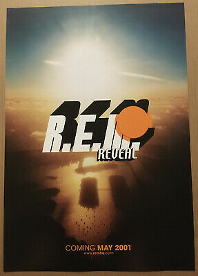R.E.M. Rare 2001 TEASER PROMO POSTER W/ RELEASE DATE For Reveal CD USA MINT Rem • 27.78£