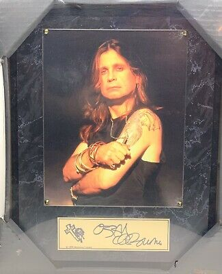 1999 Sealed Ozzy Osbourne Monowise Limited Mounted Picture W Signature Plate • 98.39£