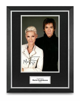Marie Fredriksson Signed 16x12 Framed Photo Display Roxette Music Autograph COA • 149.99£