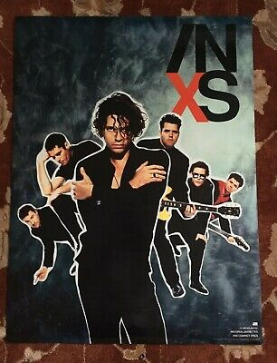 INXS  X  Rare Original Promotional Poster  MICHAEL HUTCHENCE • 11.10£