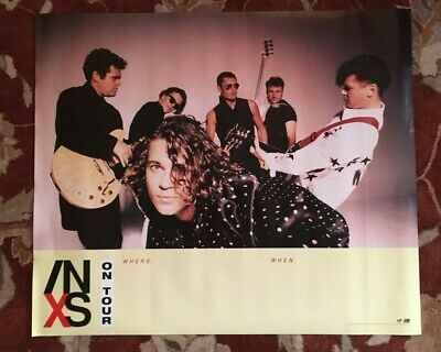 INXS  On Tour 1990  Rare Original Promotional Poster  MICHAEL HUTCHENCE • 17.87£